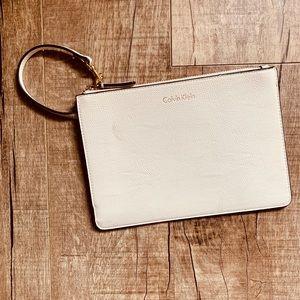Calvin Klein—White Clutch Wristlet